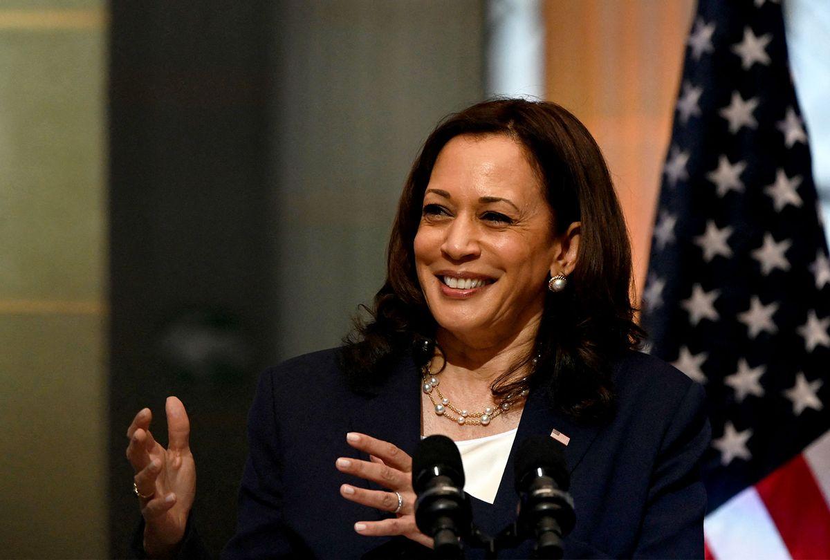 US Vice-President Kamala Harris (JOHAN ORDONEZ/AFP via Getty Images)