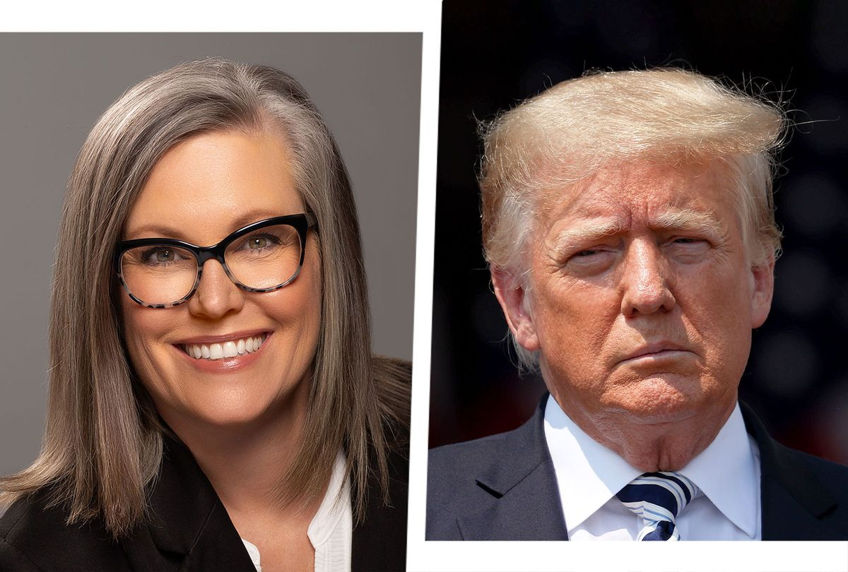 Katie Hobbs and Donald Trump (Photo illustration by Salon/Getty Images/Office of Arizona Secretary of State)