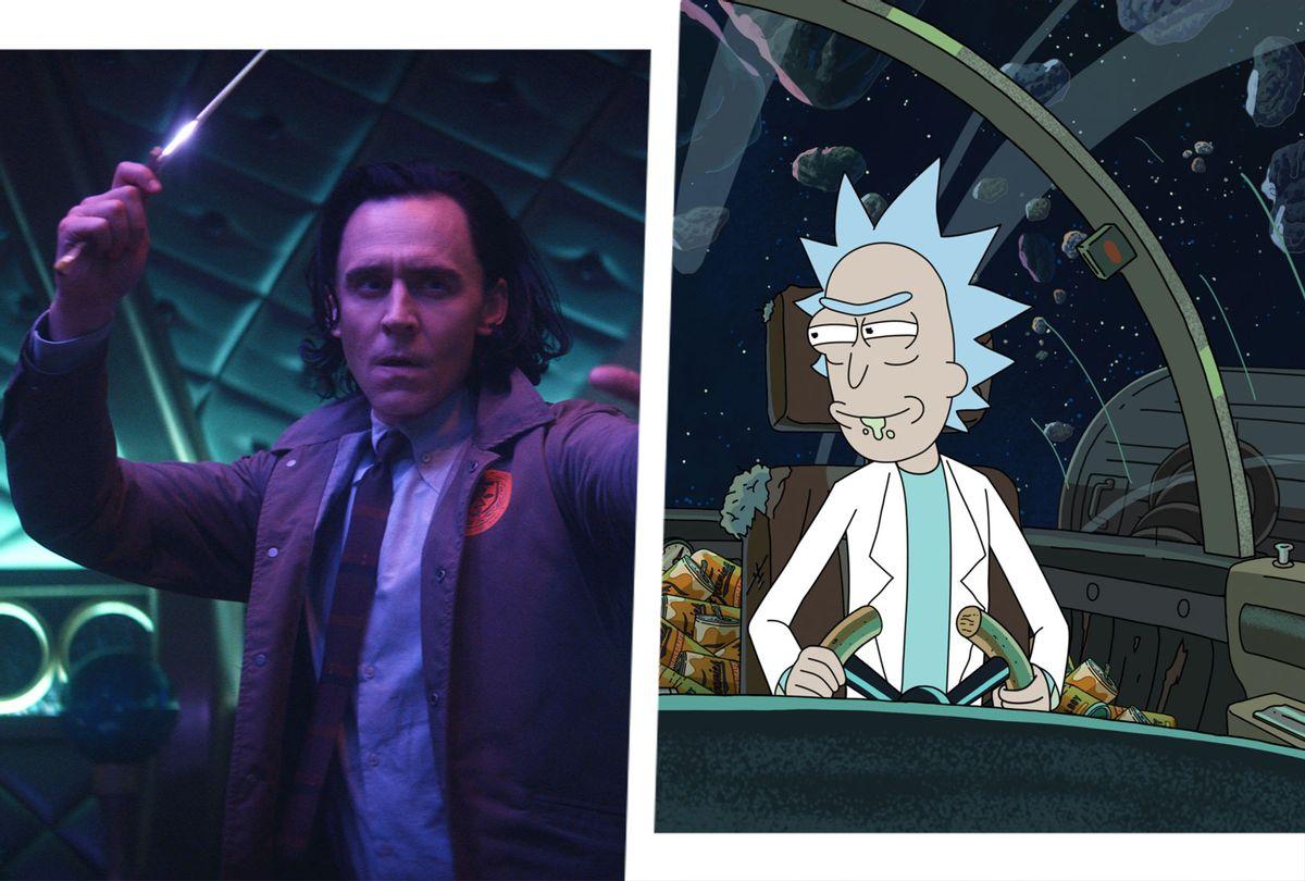 Loki   Rick and Morty (Photo illustration by Salon/Disney+/Marvel Studios/Warner Media/Adult Swim)