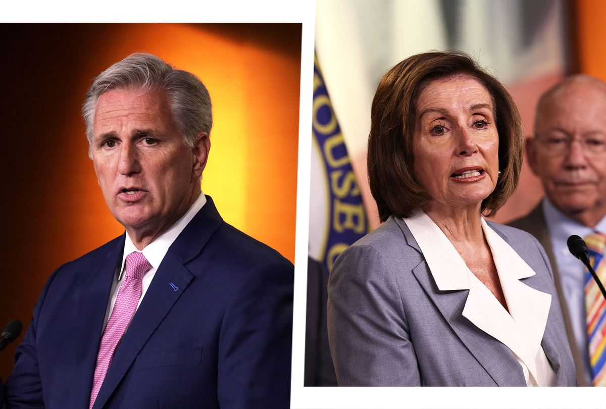 Kevin McCarthy and Nancy Pelosi (Photo illustration by Salon/Getty Image)