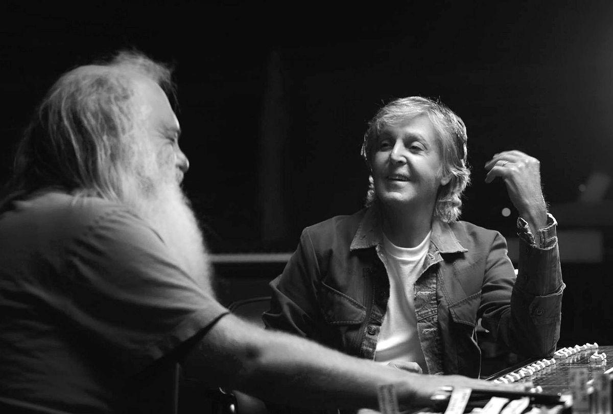 "Paul McCartney and Rick Rubin in ""McCartney 3, 2, 1"" (Photo Courtesy of Hulu)"
