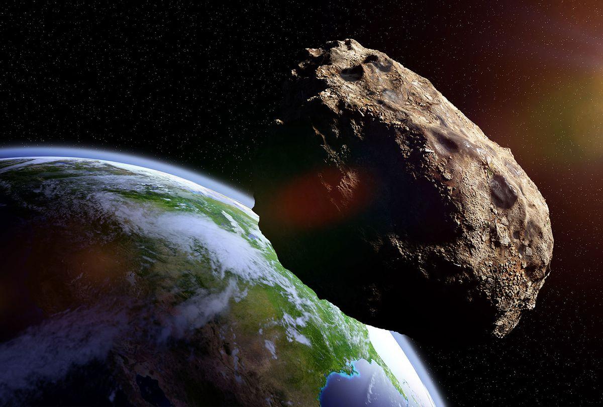 Meteorite in orbit (Getty Images)