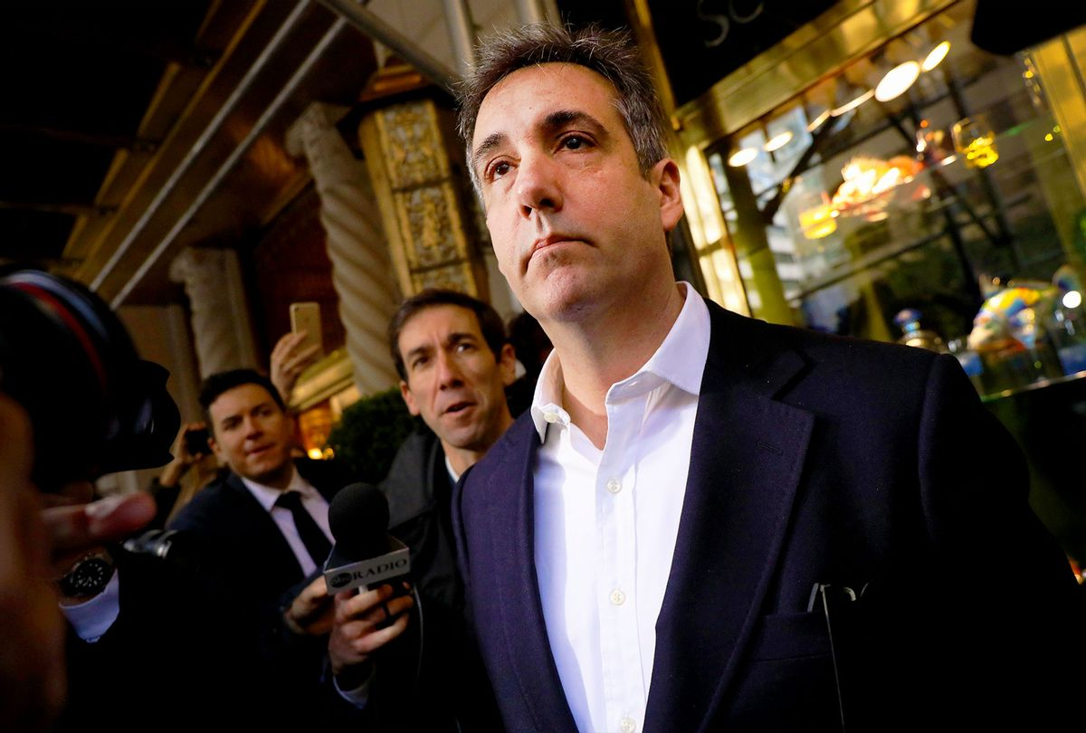 Michael Cohen, the former personal attorney to President Donald Trump, departs his Manhattan apartment for prison on May 06, 2019 in New York City. Cohen is due to report to a federal prison in Otisville, New York, where he will begin serving a three-year sentence for campaign finance violations, tax evasion and other crimes. (Spencer Platt/Getty Images)