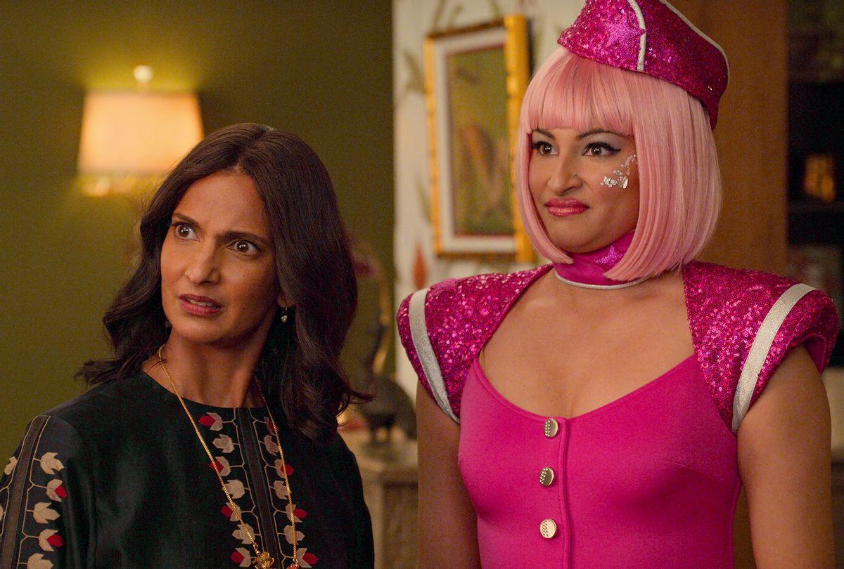 "Poorna Jagannathan and Richa Moorjani in ""Never Have I Ever"" (Isabella B. Vosmikova/Netflix)"