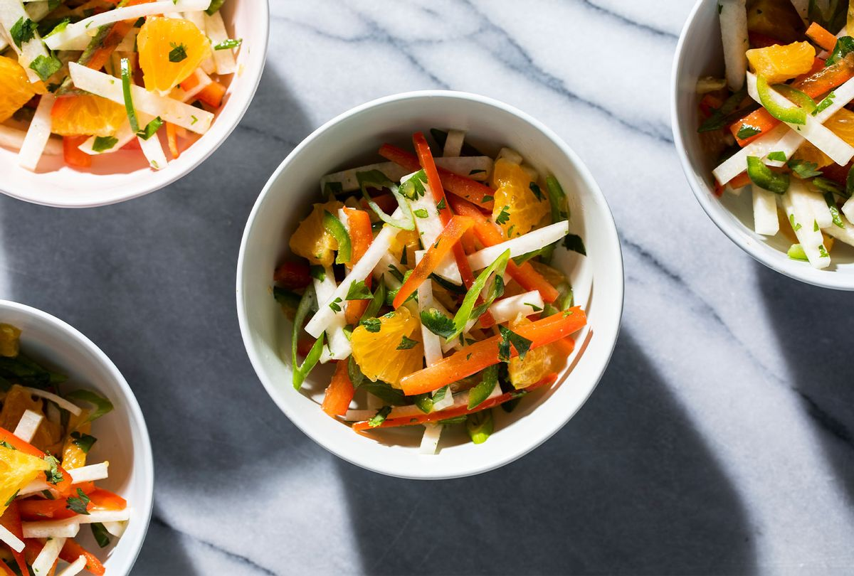 Orange-Jicama Salad with Sweet and Spicy Peppers (America's Test Kitchen)