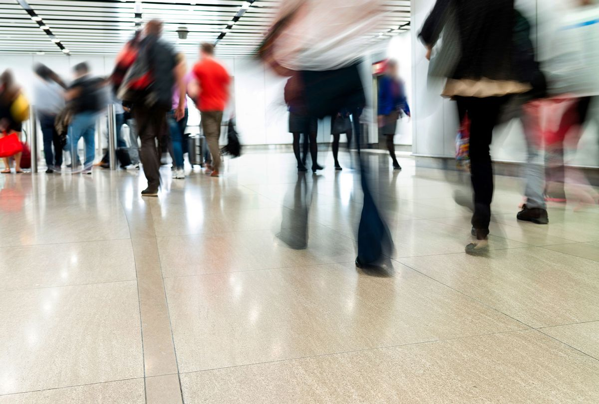 People walking briskly (Getty Images)