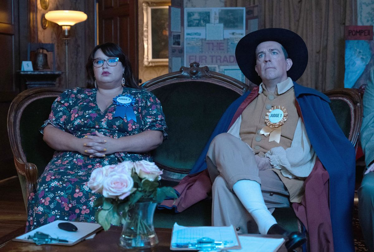 """Jana Schmieding and Ed Helms in """"Rutherford Falls"""" (Peacock)"""