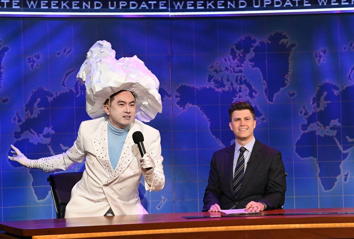 """Bowen Yang and Colin Jost in """"Saturday Night Live"""" (Will Heath/NBC)"""