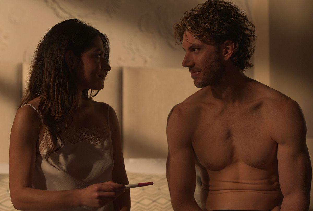 "Sarah Shahi as Billie Connelly and Adam Demos as Brad Simon in ""Sex/Life""  (Netflix)"