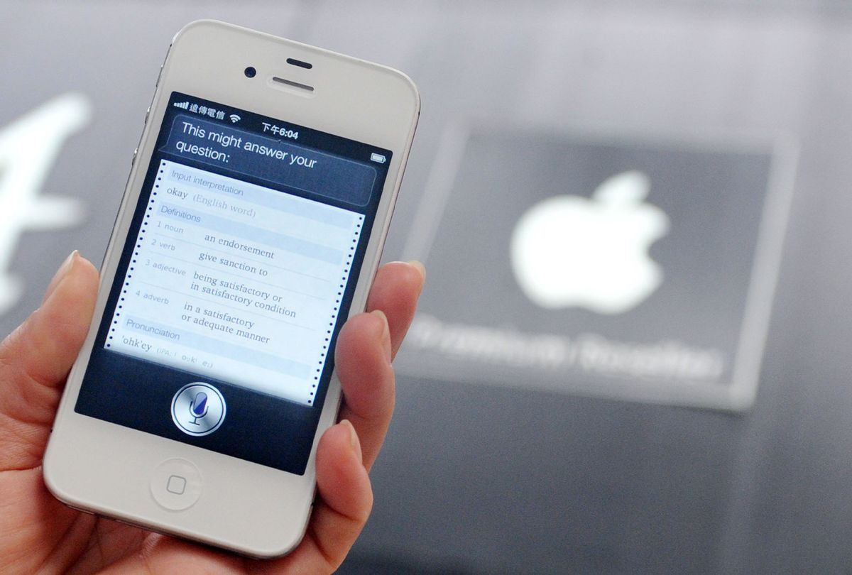 Siri, Apple's voice-activated assistant technology, used on an iPhone (Mandy Cheng/AFP/GettyImages)
