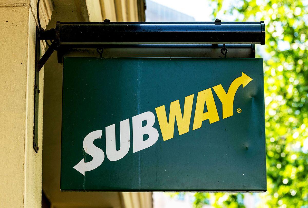 Subway logo on their restaurant sign (Dave Rushen/SOPA Images/LightRocket via Getty Images)