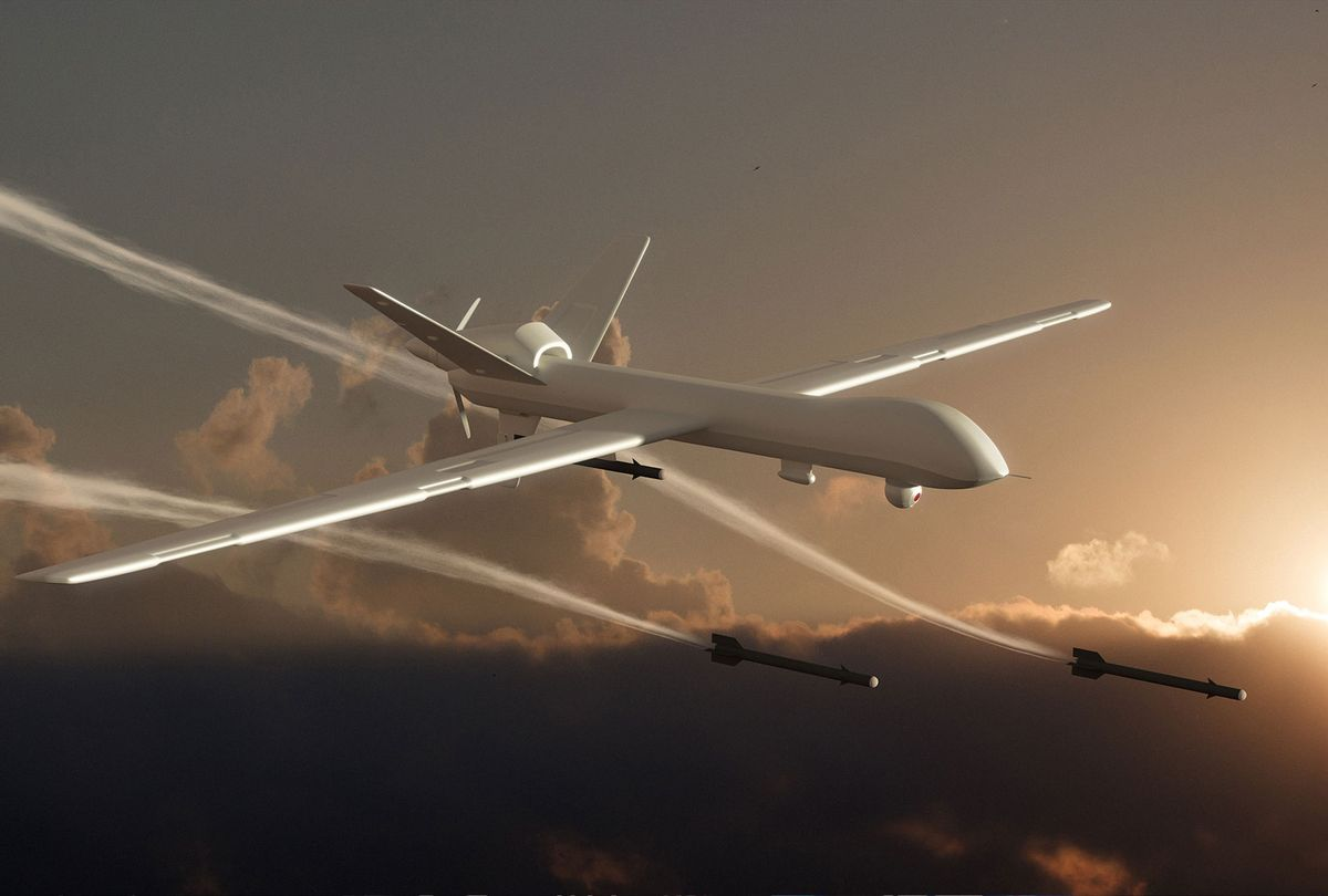 Unmanned Aerial Vehicle (UAV) Drone Attack (Getty Images/koto_feja)