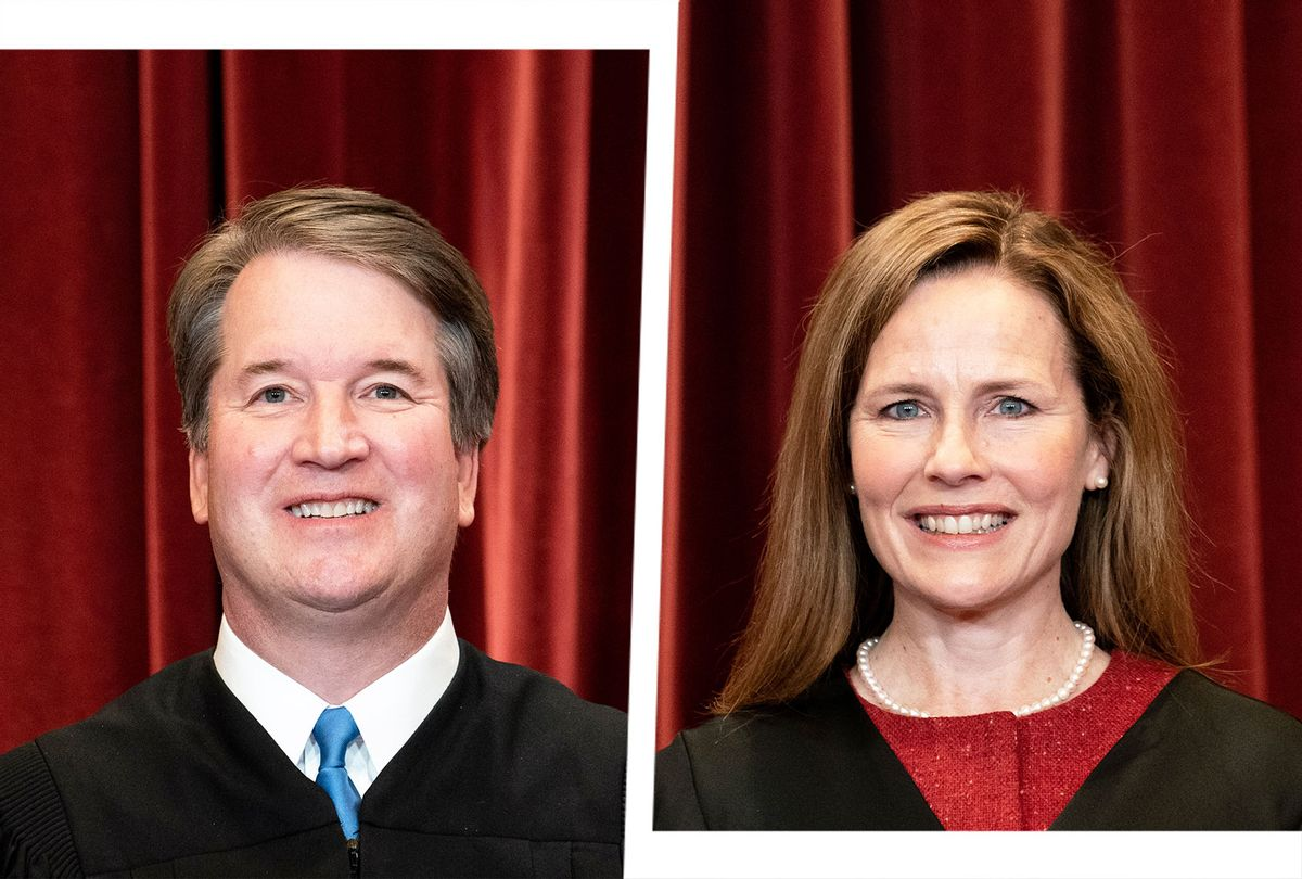 Brett Kavanaugh and Amy Coney Barret (Photo illustration by Salon/Getty Images)