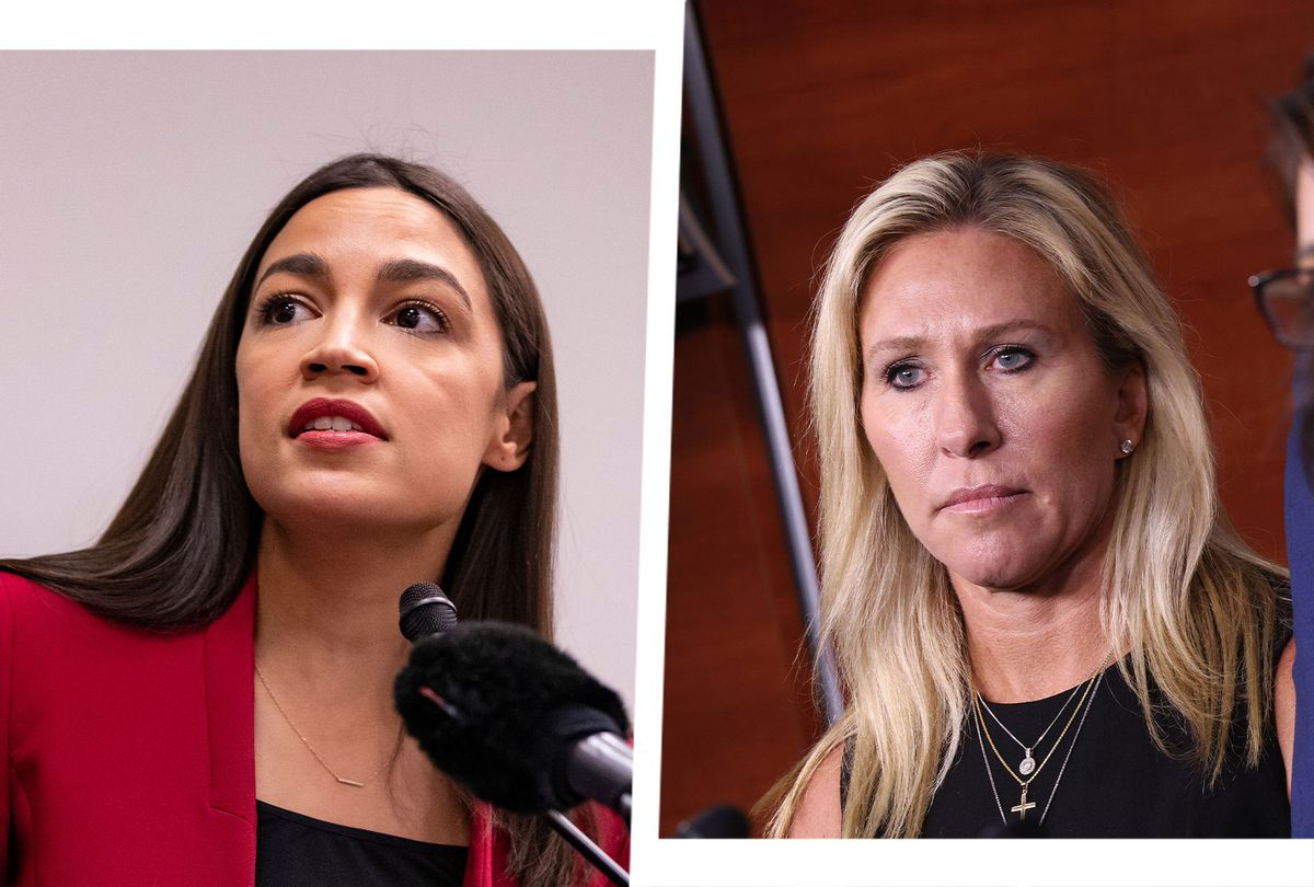 Alexandria Ocasio-Cortez and Marjorie Taylor Greene (Photo illustration by Salon/Getty Images)