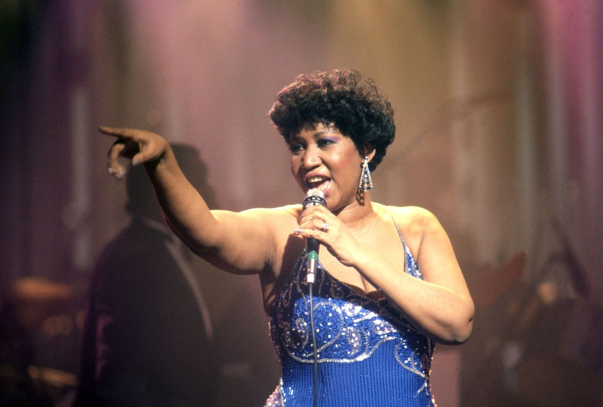Aretha Franklin (1942-2018) performs in Detroit, MI, 1987 (Ross Marino/Getty Images)