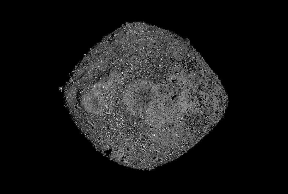 This mosaic of Bennu was created using observations made by NASA's OSIRIS-REx spacecraft that was in close proximity to the asteroid for over two years. (NASA/Goddard/University of Arizona)