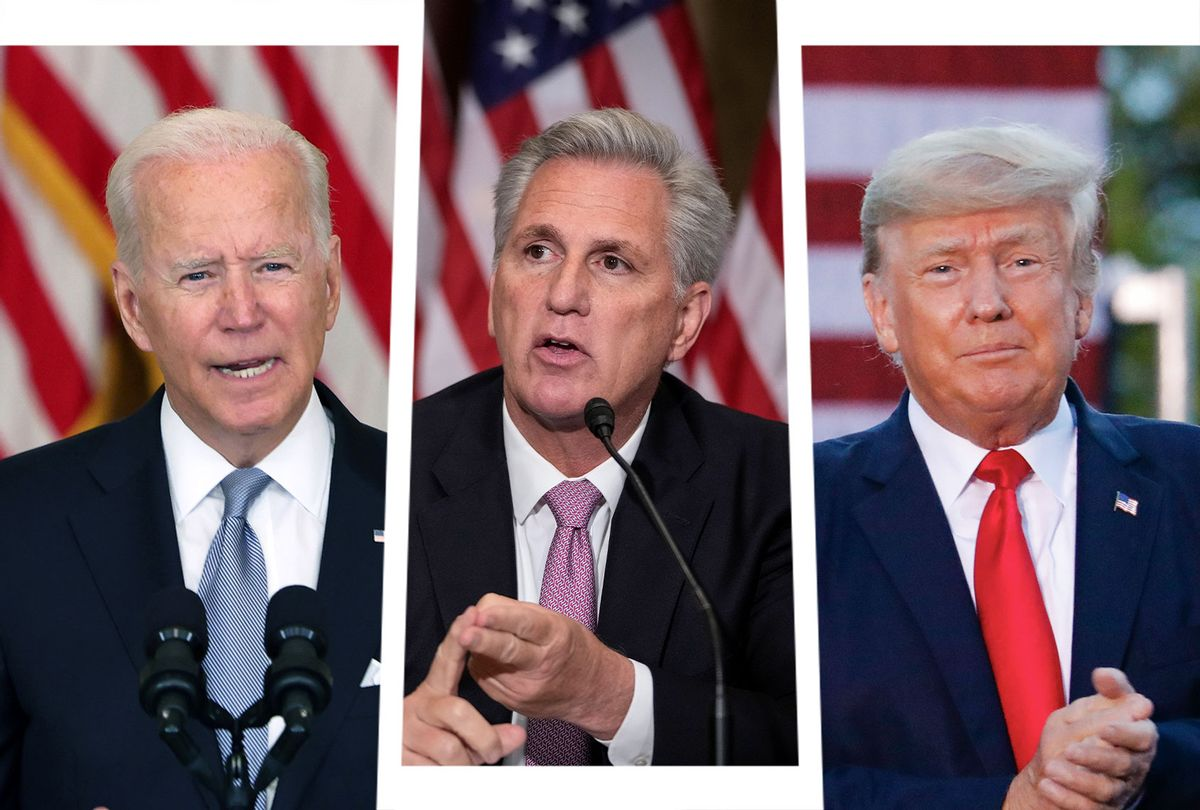 Joe Biden, Kevin McCarthy and Donald Trump (Photo illustration by Salon/Getty Images)