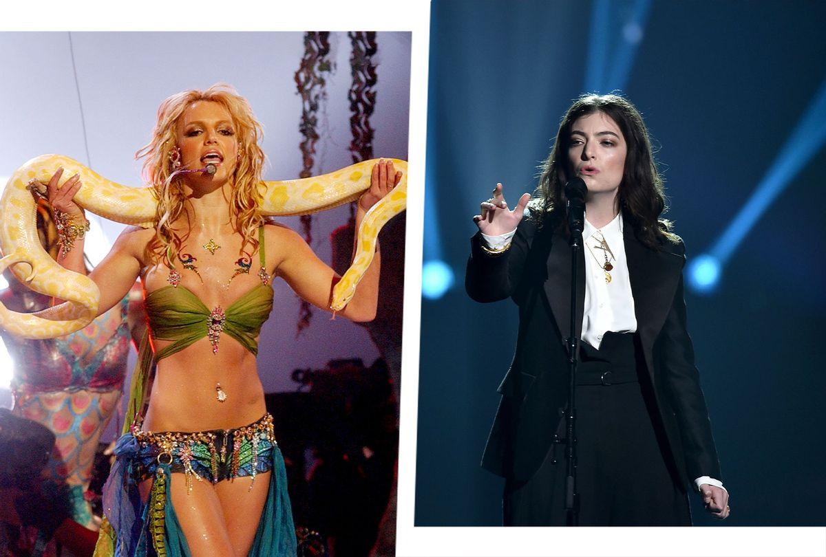 Britney Spears and Lorde (Photo illustration by Salon/Getty Images/Kevin Mazur/Steven Ferdman)