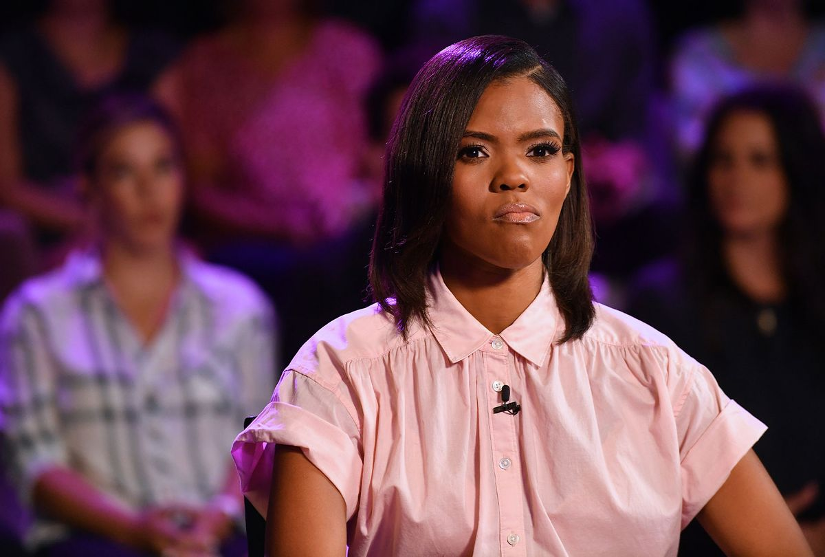 """Candace Owens is seen on set of """"Candace"""" on August 16, 2021 in Nashville, Tennessee. (Jason Davis/Getty Images)"""