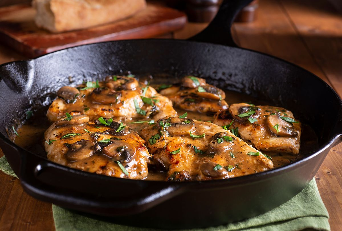Chicken Marsala in a Cast Iron Skillet (Getty Images)