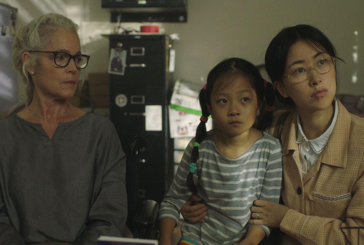 "Amy Irving, Harmonie He and Zhu Zhu in ""Confetti"" (Dada Films)"