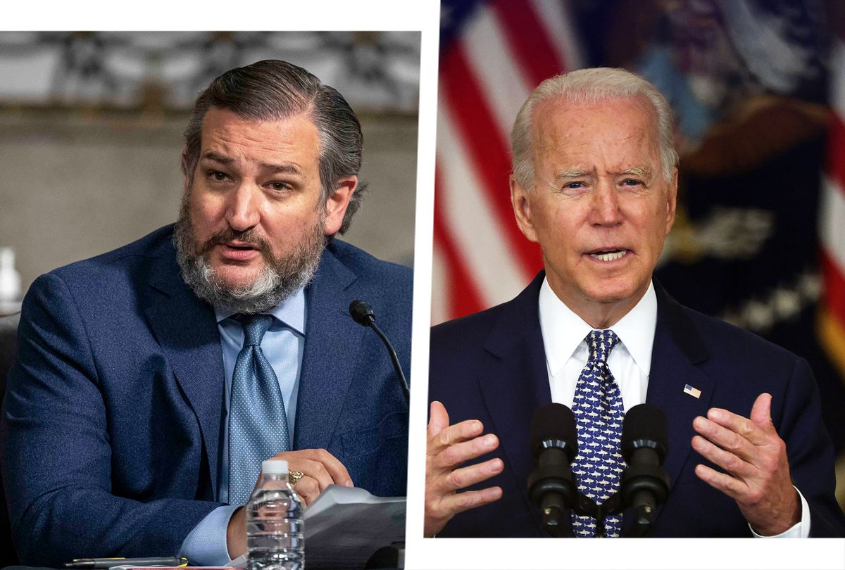 Ted Cruz and Joe Biden (Photo illustration by Salon/Getty Images)