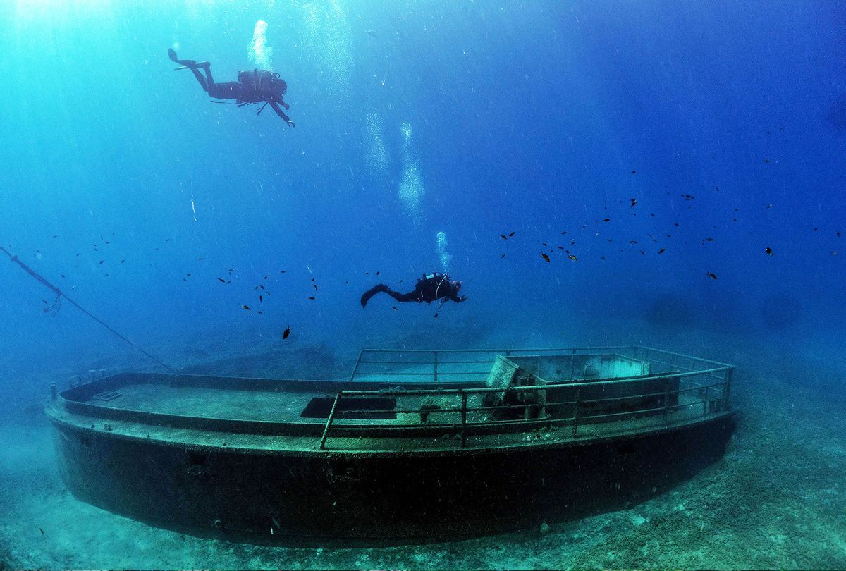 Divers taking part in a project to document shipwrecks in Cyprus (EMILY IRVING-SWIFT/AFP via Getty Images)