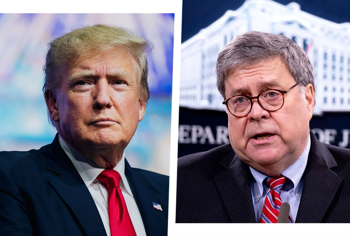 Donald Trump and Bill Barr (Photo illustration by Salon/Getty Images)