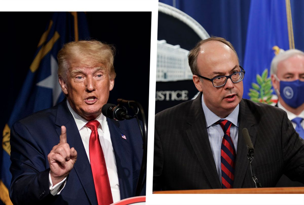 Donald Trump and Jeffrey Clark (Photo illustration by Salon/Getty Images)