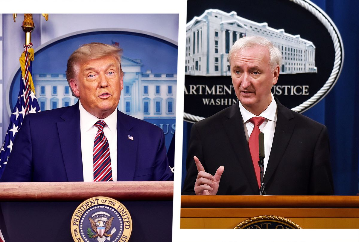Donald Trump and Jeffrey Rosen (Photo illustration by Salon/Getty Images)