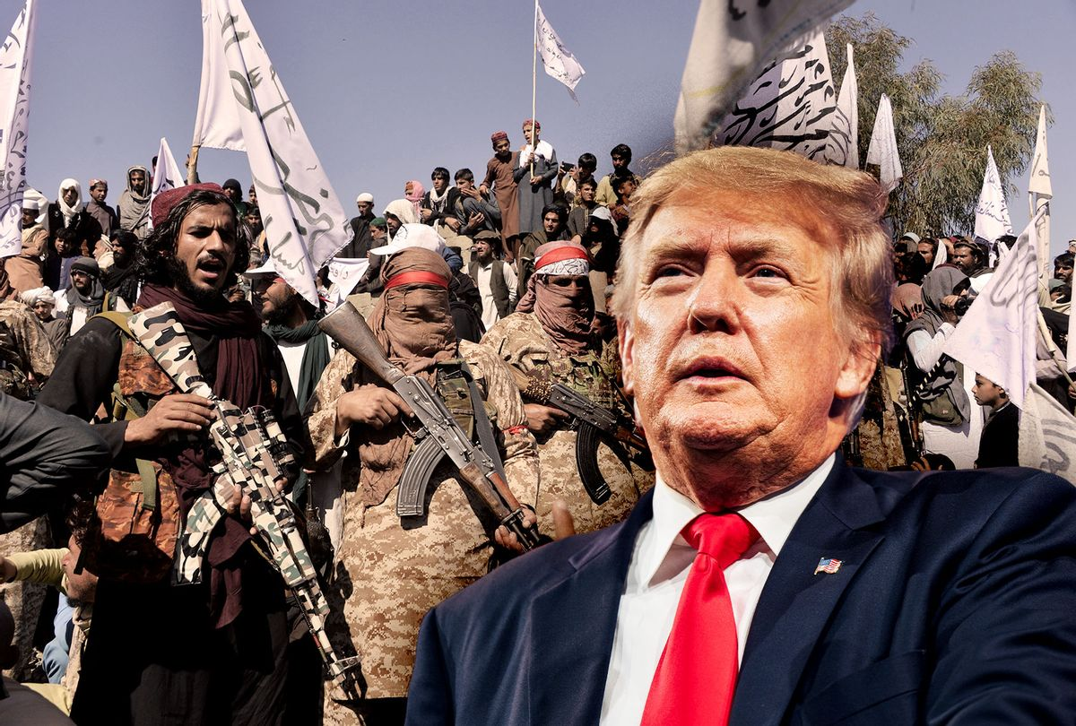 Donald Trump | Afghan Taliban militants (Photo illustration by Salon/Getty Images)