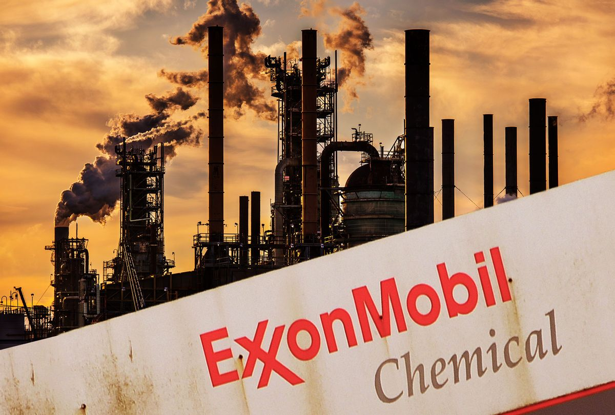 Oil refinery, owned by Exxon Mobil (Photo illustration by Salon/Getty Images)