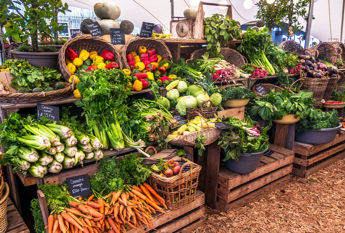 Fresh food and vegetables at a Farmer's Market (Rodger Shagam/Getty Images)