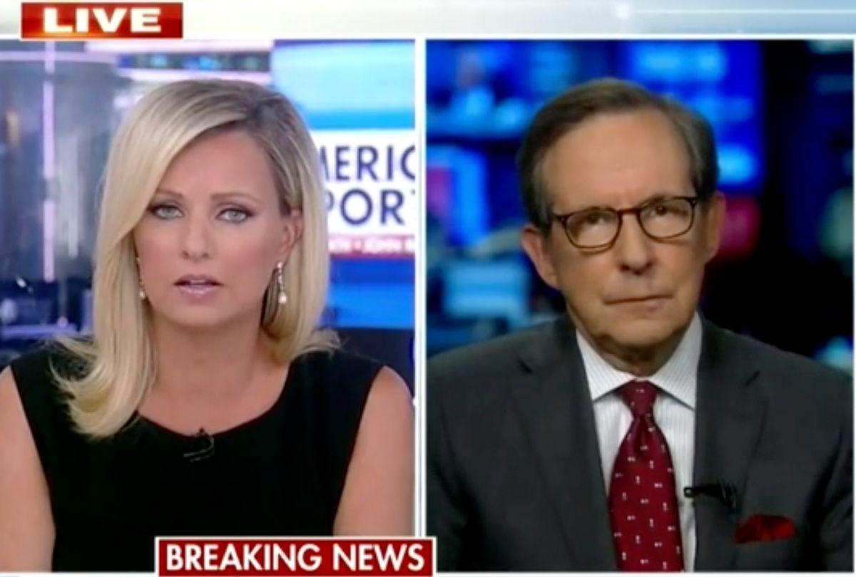 Fox News hosts Sandra Smith and Chris Wallace. (Fox News)