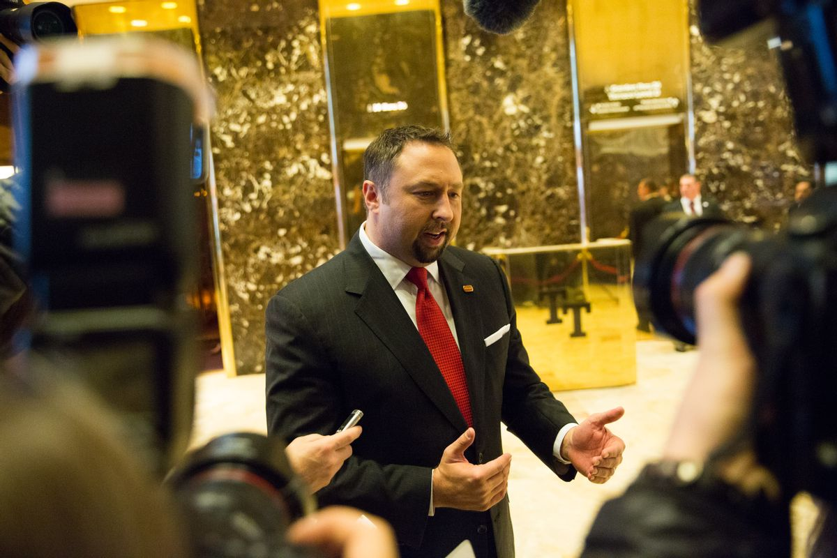 Jason Miller, CEO of social media company GETTR and former campaign spokesman for President Donald Trump. (Getty Images)