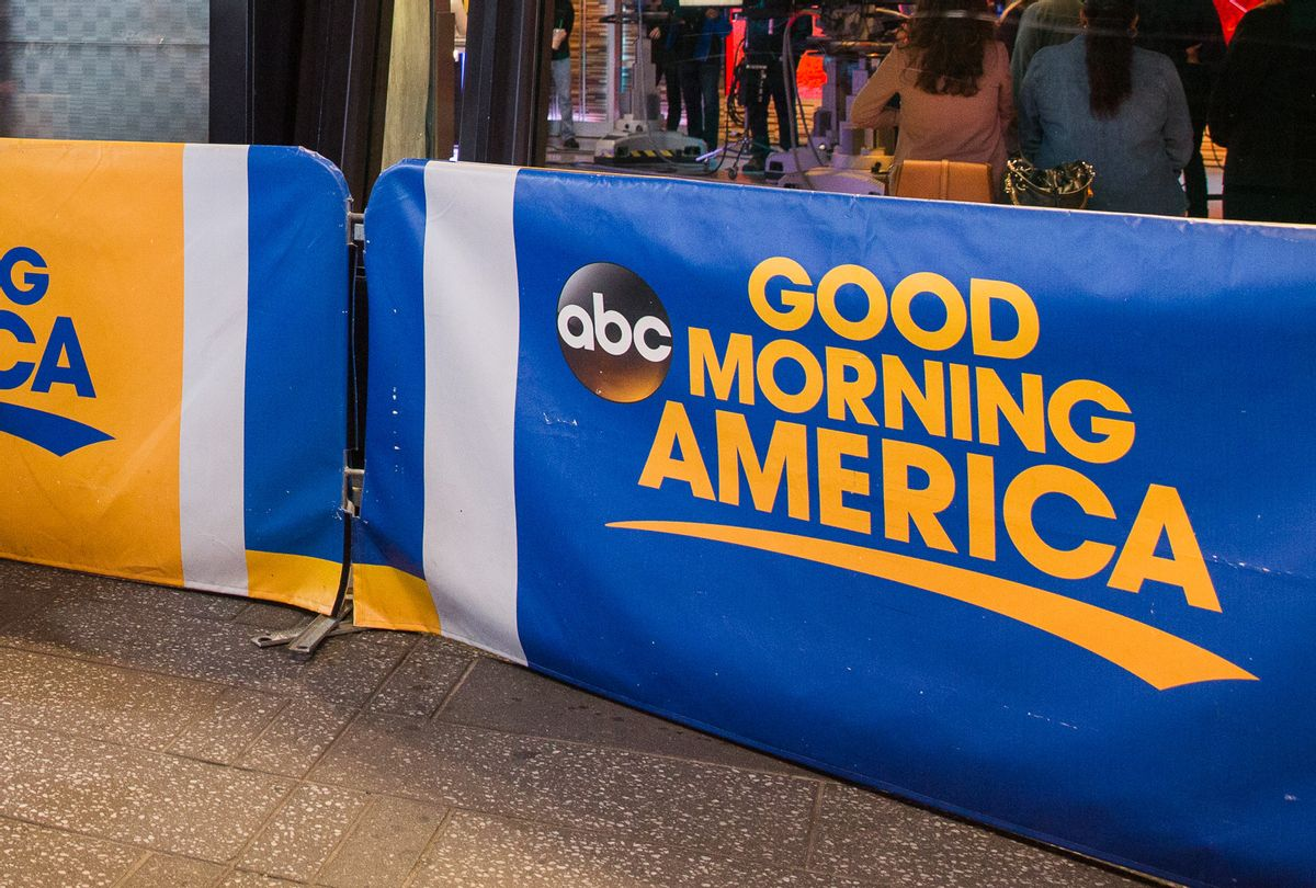 """Exterior of """"Good Morning America"""" filmed at ABC studios in Times Square (Barcroft Media via Getty Images)"""