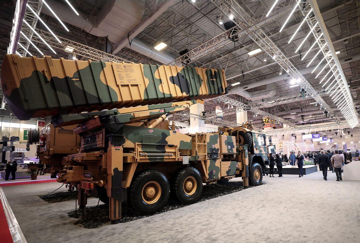 14th International Defence Industry Fair (IDEF) held in Istanbul, Turkey on April 30, 2019. (Sebnem Coskun/Anadolu Agency/Getty Images)