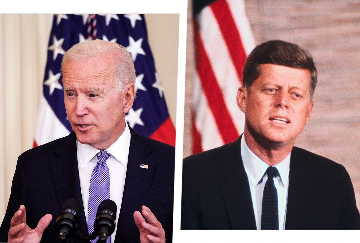 Joe Biden and John F Kennedy (Photo illustration by Salon/Getty Images)