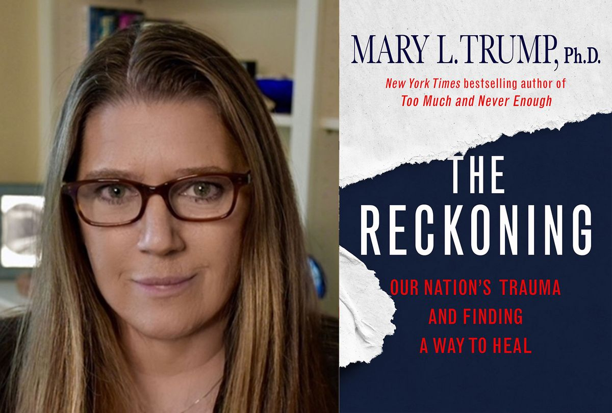 """""""The Reckoning: Our Nation's Trauma And Finding A Way To Heal"""" by Mary Trump (Photo illustration by Salon/Avary L. Trump/St. Martin's Press)"""