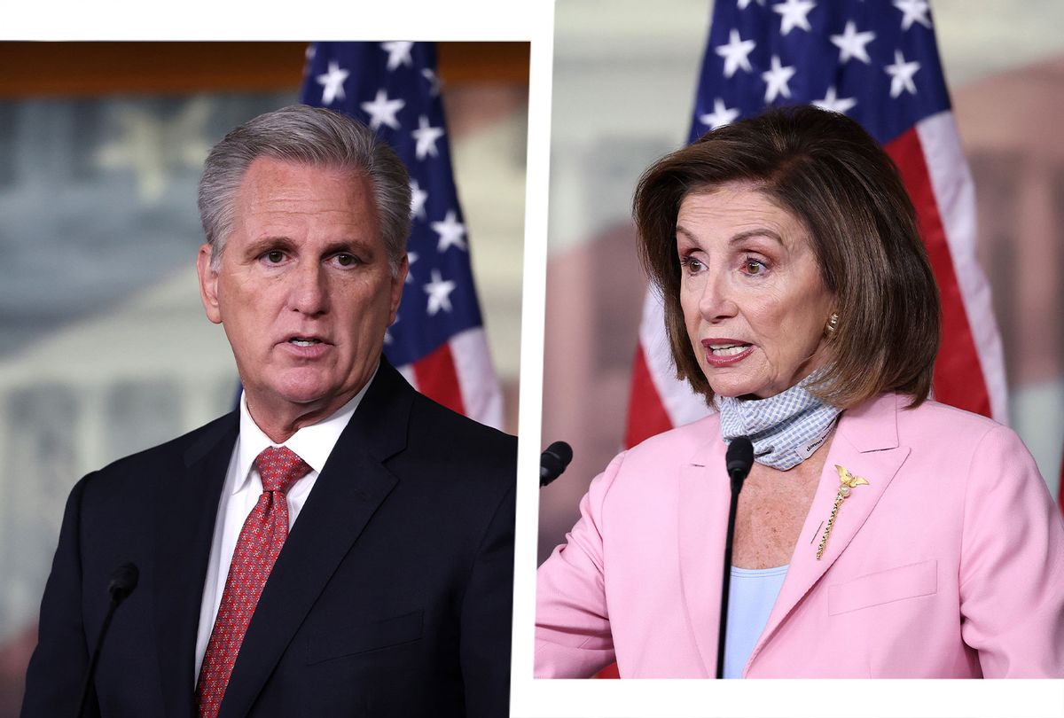 Kevin McCarthy and Nancy Pelosi (Photo illustration by Salon/Getty Images/Kevin Dietsch)
