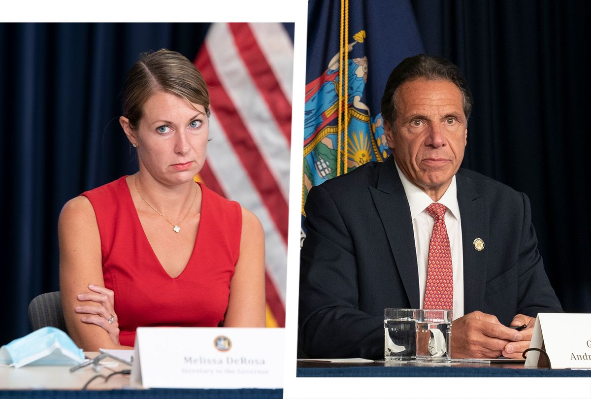 Melissa DeRosa and Andrew Cuomo (Photo illustration by Salon/Getty Images)