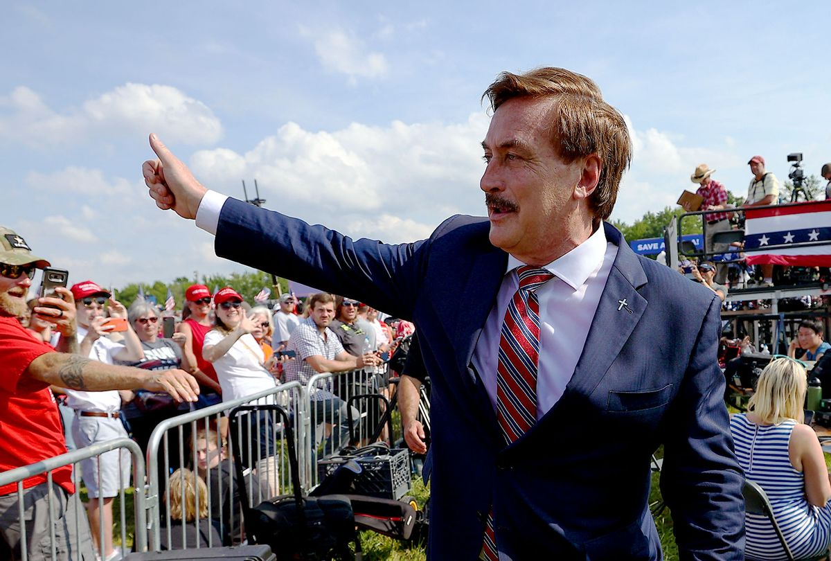 """Michael Lindell known also as """"Pillow Guy""""  (Tayfun Coskun/Anadolu Agency/Getty Images)"""