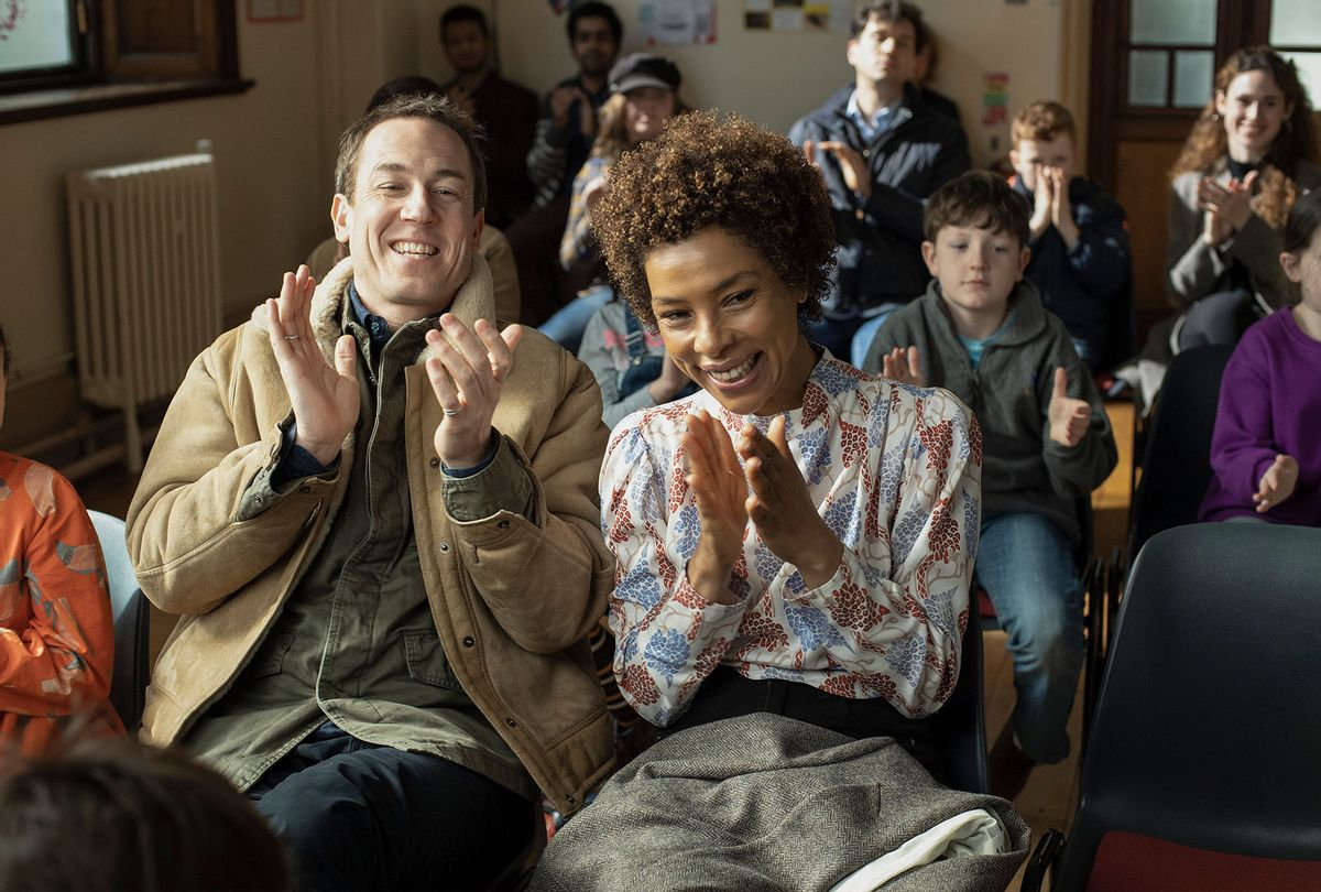 "Tobias Menzies and Sophie Okonedo in ""Modern Love"" (Christopher Saunders/Amazon)"