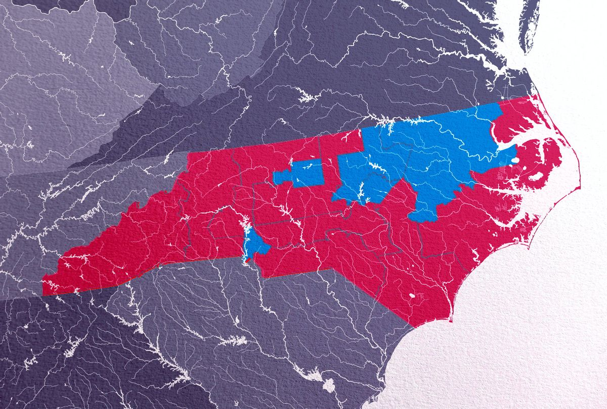 North Carolina 2020 District Map (Photo illustration by Salon/Getty Images/mshch)