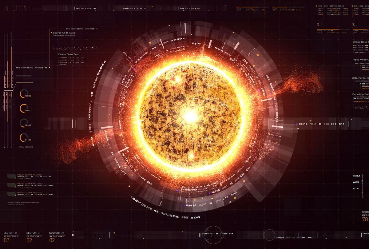 Futuristic Nuclear Fusion Particles Simulation concept (iStock/Getty Images)