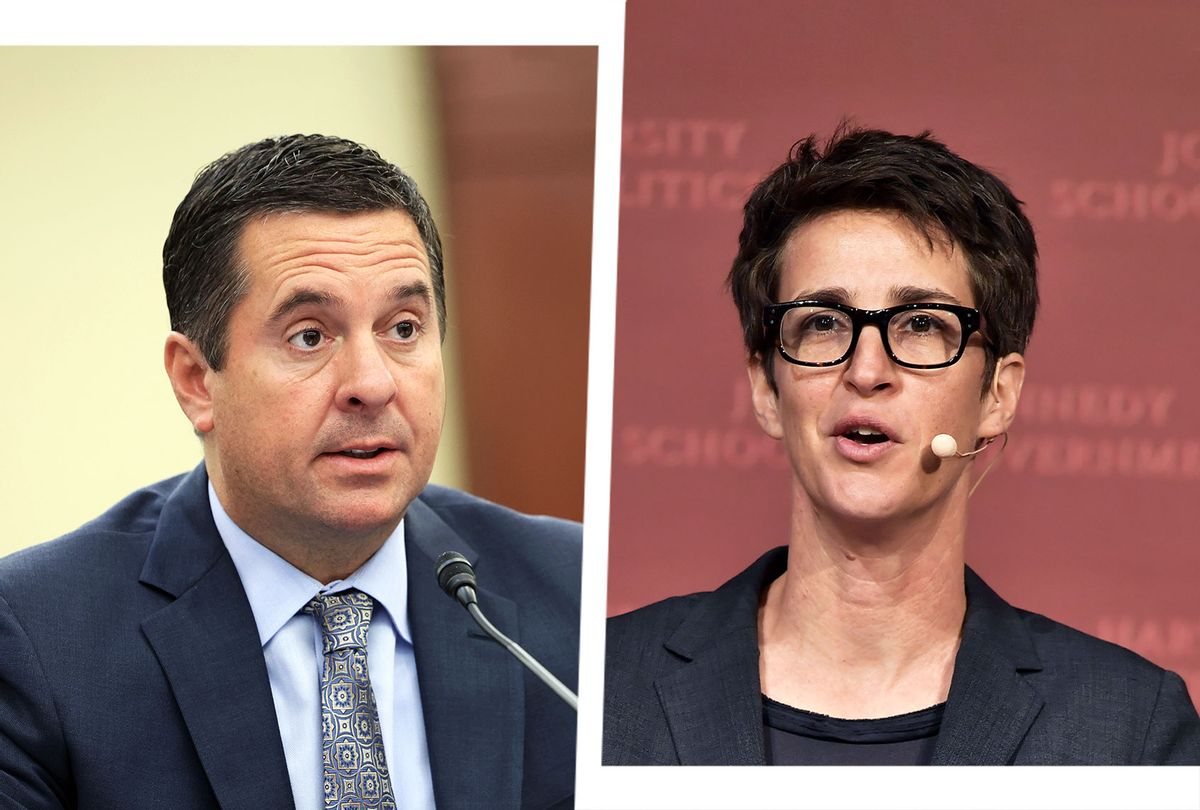 Devin Nunes and Rachel Maddow (Photo illustration by Salon/Getty Images)