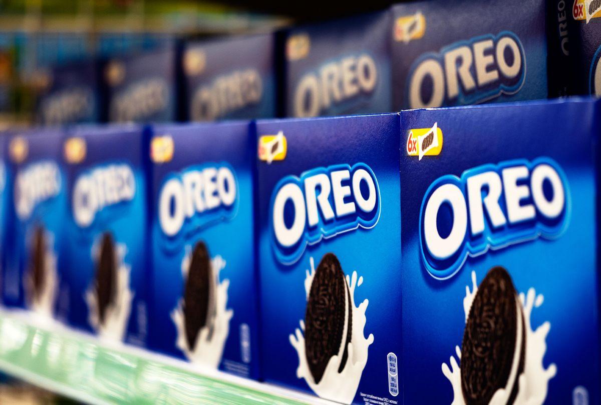 Oreo Cookies seen on a store shelf. (Igor Golovniov/SOPA Images/LightRocket via Getty Images)