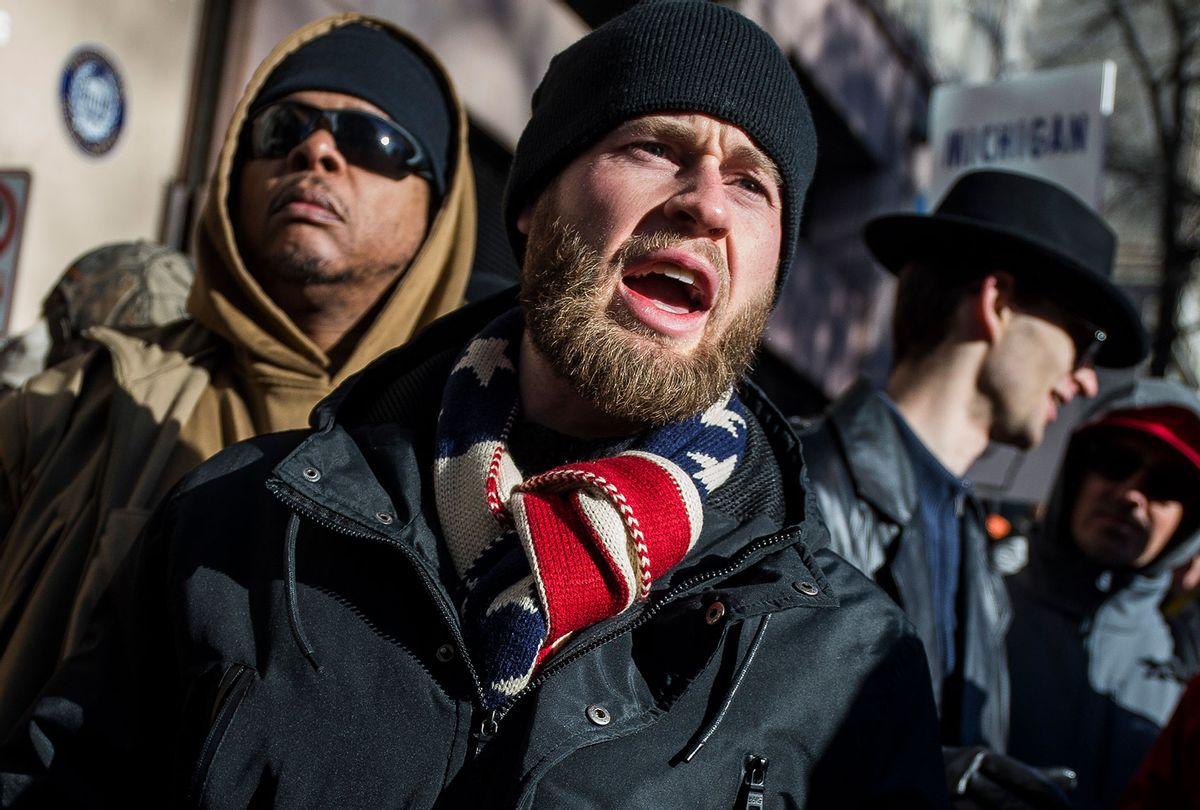 InfoWars host Owen Shroyer (Zach Gibson/Getty Images)