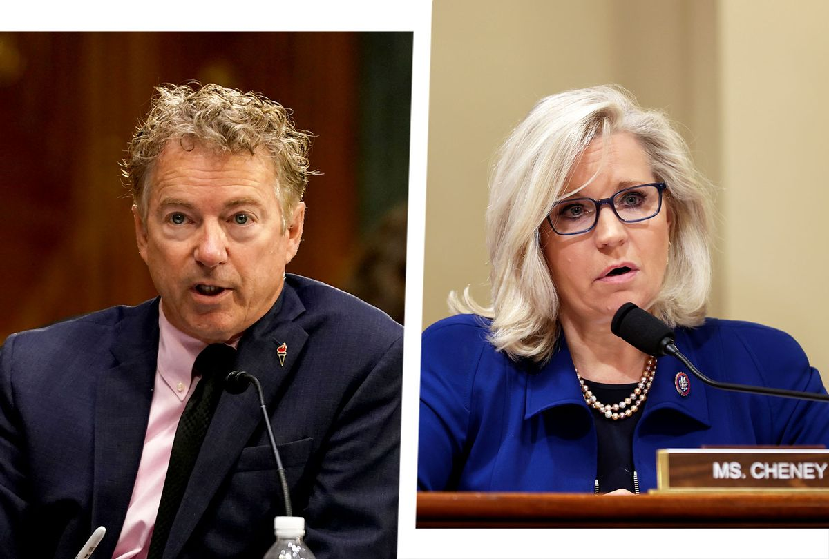 Rand Paul (R-KY) and Liz Cheney (R-WY) (Photo illustration by Salon/Getty Images)