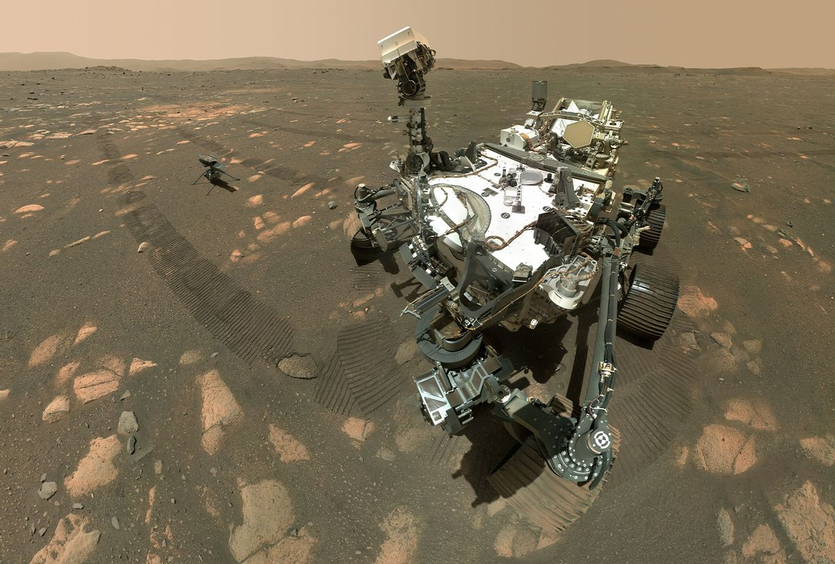 Perseverance's Selfie with Ingenuity (NASA/JPL-Caltech/MSSS)